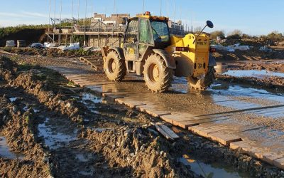 Stable Surfaces for Construction Sites with Bog Mats